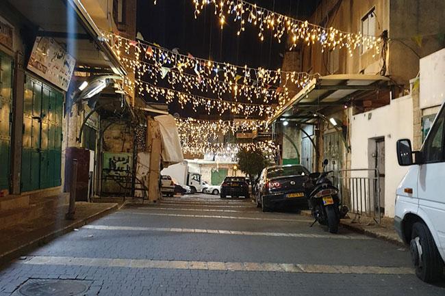 רחוב נצרת בלילה